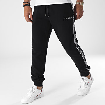 Calvin Klein - Pantalon Jogging A Bandes Essential Logo Tape 7316 Noir