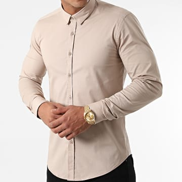 LBO - Chemise Manches Longues Slim Fit 1844 Beige