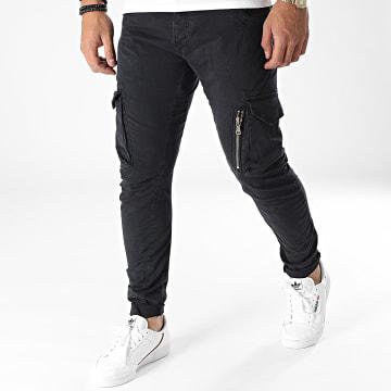 Le Temps Des Cerises - Pantalon Cargo Alban Noir