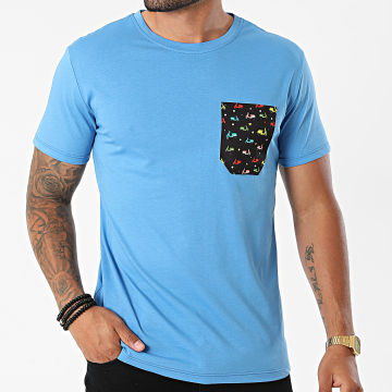 MTX - Tee Shirt Poche TM06744 Bleu Clair