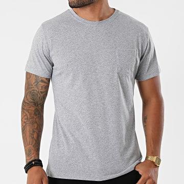 MTX - Tee Shirt Poche TM0671 Gris Chiné