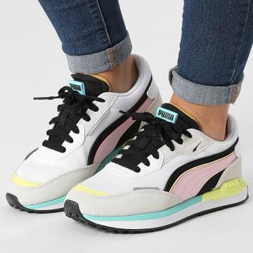 Puma - Baskets Femme City Rider 382044 Vaporous Gray Pink Lady
