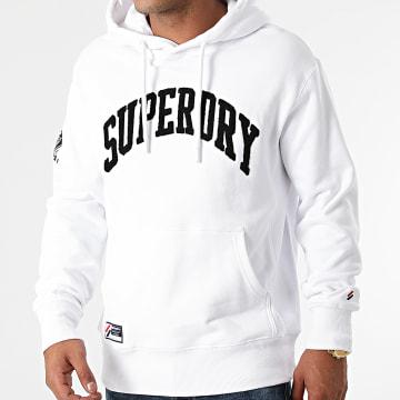 Superdry - Sweat Capuche Varsity Arch Mono M2011373A Blanc
