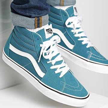Vans - Baskets Montantes Sk8-Hi Blue Coral True White