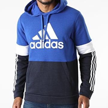 Adidas Performance - Sweat Capuche A Bandes CB H14647 Bleu Marine Bleu Roi