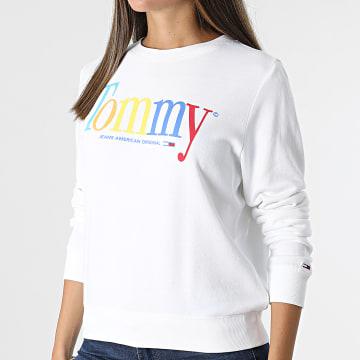 Tommy Jeans - Sweat Crewneck Femme Color Tommy 10451 Blanc