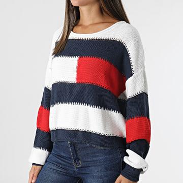 Tommy Jeans - Pull Femme Stripe 10335 Blanc