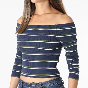 Tommy Jeans - Top Crop Femme Stripe 10400 Bleu Marine