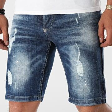 Uniplay - Short Jean Slim 548 Bleu Denim