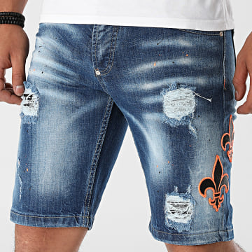 Uniplay - Short Jean Slim 549 Bleu Denim