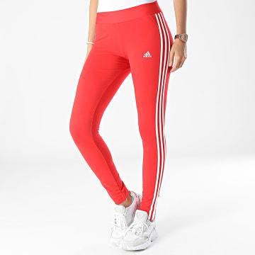 Adidas Performance - Legging Femme A Bandes H07772 Rouge