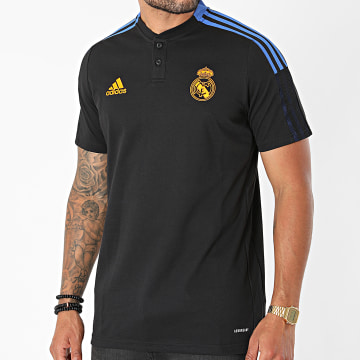 Adidas Performance - Polo Manches Courtes A Bandes Real Madrid GR4347 Noir