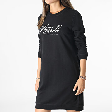 Anthill - Robe Sweat Crewneck Femme Logo TPM Noir