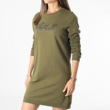 Anthill - Robe Sweat Crewneck Femme Logo TPM Vert Kaki