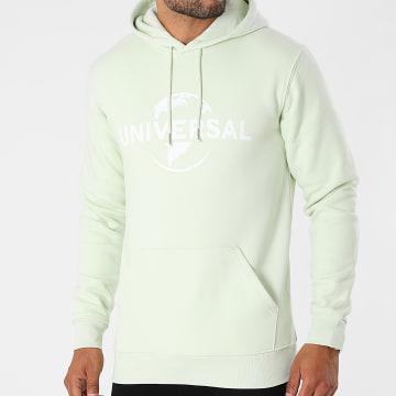 Universal Studio - Sweat Capuche Logo Vert Mint Blanc