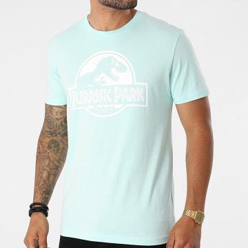 Jurassic Park - Tee Shirt Logo Vert Mint Blanc
