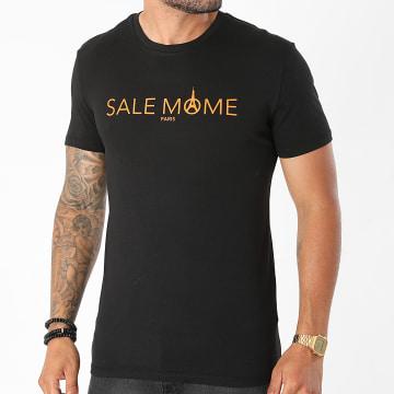 Sale Môme Paris - Tee Shirt Logo Noir Orange