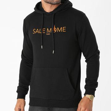 Sale Môme Paris - Sweat Capuche Logo Noir Orange