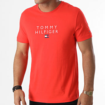 Tommy Hilfiger - Tee Shirt Stacked Tommy Flag 7663 Rouge