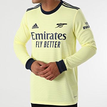 Adidas Performance - Tee Shirt De Sport Manches Longues A Bandes Arsenal GQ3263 Jaune