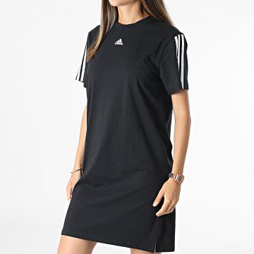 Adidas Performance - Robe Tee Shirt Femme A Bandes GS1371 Noir