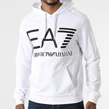 EA7 Emporio Armani - Sweat Capuche 6KPM69-PJBWZ Blanc