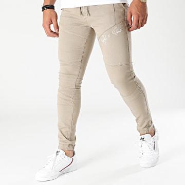 Project X Paris - Jogger Pant Jean Super Skinny TP21044 Beige
