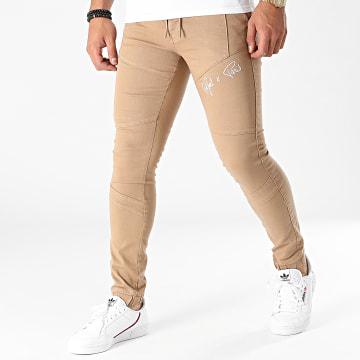 Project X Paris - Jogger Pant Jean Super Skinny TP21044 Camel