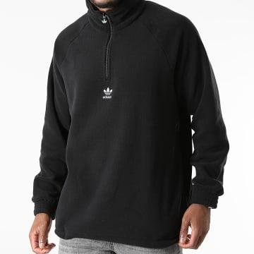 Adidas Originals - Sweat Col Zippé Trefoil H06680 Noir