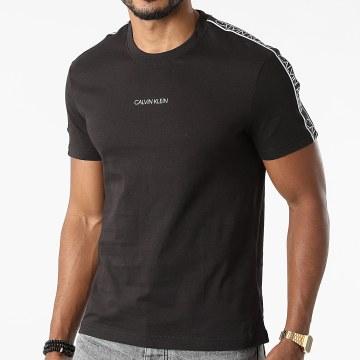 Calvin Klein - Tee Shirt A Bandes Essential Logo Tape 7312 Noir
