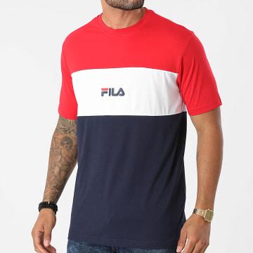 Fila - Tee Shirt Anoki Blocked 688468 Bleu Marine Rouge Blanc