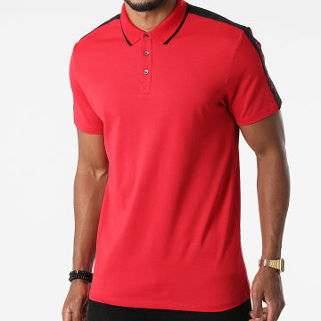 Guess - Polo Manches Courtes A Bandes M91P71-R7PU0 Rouge