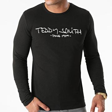 Teddy Smith - Tee Shirt Manches Longues Basic Ticlass Noir Argenté