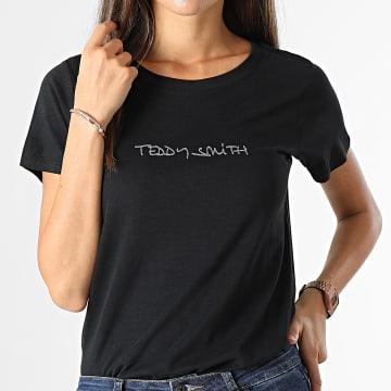 Teddy Smith - Tee Shirt Femme Ticia 2 Noir
