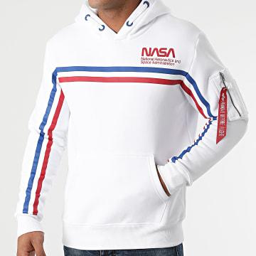 Alpha Industries - Sweat Capuche NASA ISS 118332 Blanc
