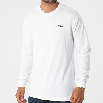 Fila - Tee Shirt Manches Longues Edric 689112 Blanc