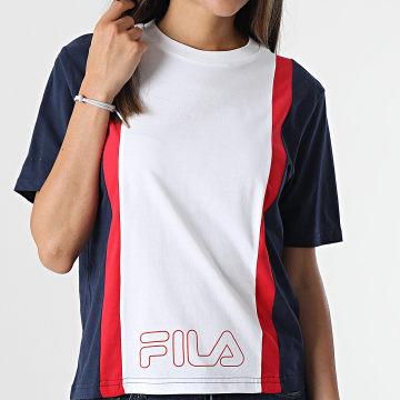 Fila - Tee Shirt Femme Paulina 683428 Bleu Marine Blanc Rouge