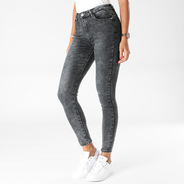 Girls Outfit - Jean Skinny Femme B915 Gris Anthracite