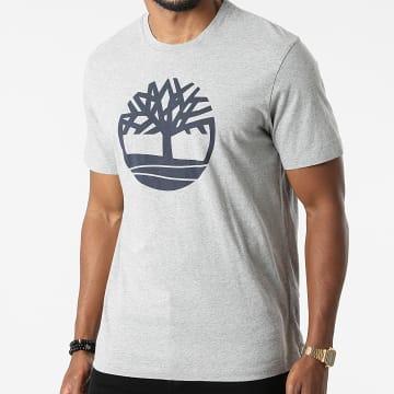 Timberland - Tee Shirt Kennebec River Brand Tree A2C2R Gris Chiné