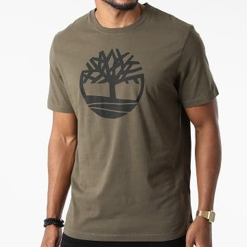 Timberland - Tee Shirt Kennebec River Brand Tree A2C2R Vert Kaki