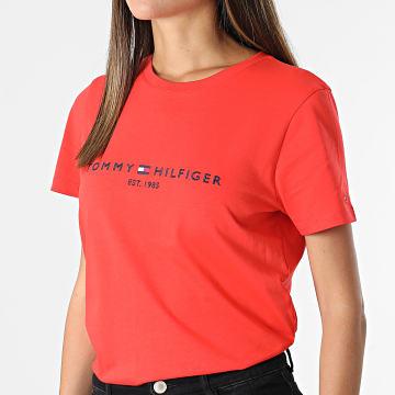 Tommy Hilfiger - Tee Shirt Femme Regular 8681 Corail