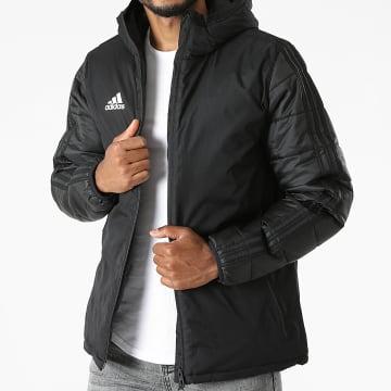 Adidas Performance - Veste Zippée Capuche A Bandes JKT18 CV8271 Noir