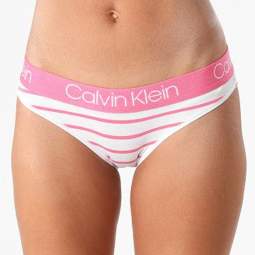 Calvin Klein - Culotte Femme 3752E Blanc Rose