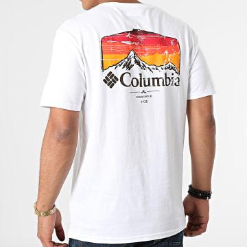 Columbia - Tee Shirt Pikewood Graphic 1987501 Blanc