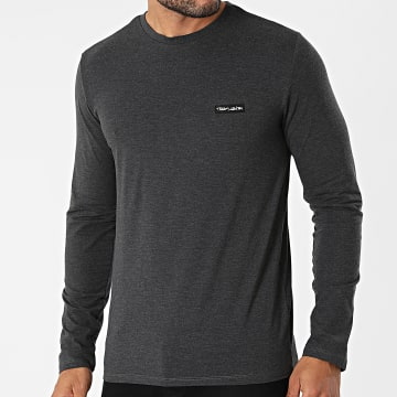 Teddy Smith - Tee Shirt Manches Longues Narky 11014859 Gris Anthracite Chiné
