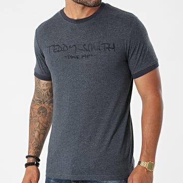 Teddy Smith - Tee Shirt Ringer HL11000014D Bleu Marine Chiné