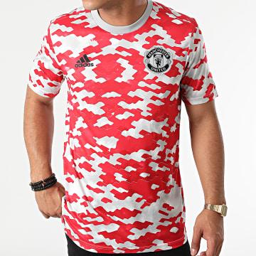 Adidas Performance - Tee Shirt De Sport Manchester United GR3914 Rouge Gris Clair