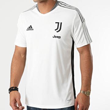Adidas Performance - Tee Shirt De Sport A Bandes Juventus GR2937 Ecru
