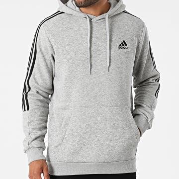 Adidas Performance - Sweat Capuche A Bandes GK9583 Gris Chiné