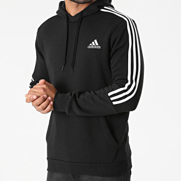 Adidas Performance - Sweat Capuche A Bandes GK9581 Noir